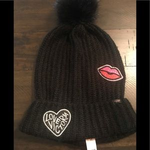 💖Victoria Secret Black Slouchy Beanie💖